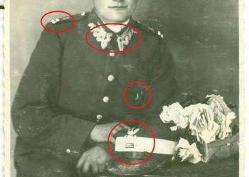 Stare zdjęcie żołnierz żołnierze polscy piechota? oznaczenie
