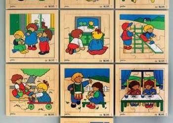 Komplet 10 układanek puzzli - dziecięce zajęcia