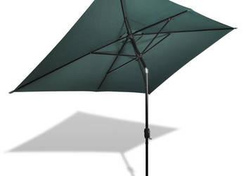 vidaXL Prostokątny parasol ogrodowy, zielony 40771