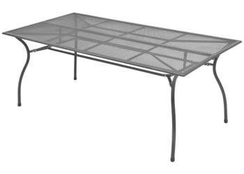 vidaXL Ogrodowy stół jadalniany, metalowa siatka 42724