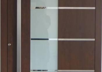 Drzwi wejściowe aluminiowe, panel nakładowy Schüco