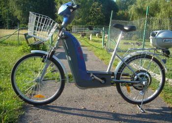 sprzedam rower Neptun używany z napędem elektrycznym