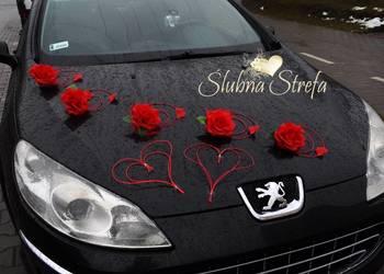 dekoracja na samochód, dekoracja samochodu ślubnego, ozdoby