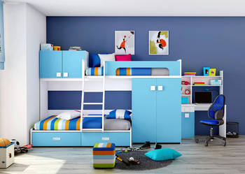 łóżko Piętrowe A Skóra Ekologicznaróżne Kolory