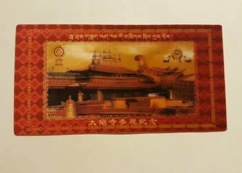 KARTKA 3 D, pocztówka trójwymiarowa, widokówka Chiny, TYBET