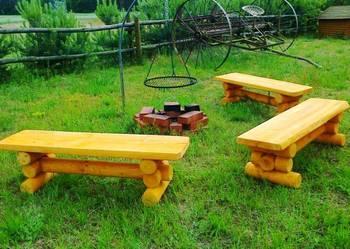 Meble ogrodowe, barowe, drewniane, ogniskowe. 100 zł trans.