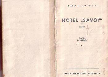 "(011) HOTEL ""SAVOY"" – JÓZEF ROTH"