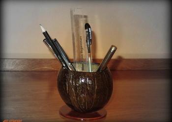 Przybornik na biurko organizer RĘKODZIEŁO