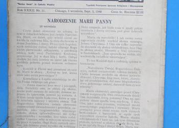 Gość Niedzielny - Rok Wydania 1948.  - Bezpłatna wysyłka.