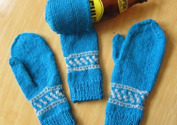 Piwołapka rękawiczka na piwo kubek rękodzieło prezent komple