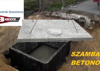 Zbiornik betonowy na szambo 10m3 z płyta najazdową Szamba