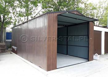 Garaż dwuspadowy PODWYŻSZONY WJAZD garaże drewnopodobne