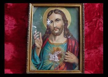Stary obraz Jezusa Chrystusa '' Kochające Serce ''
