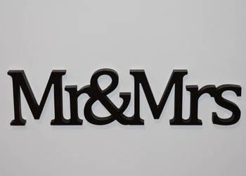 Napis 3D Mr&Mrs