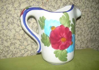 Stary Hiszpański porcelanowy dzbanek