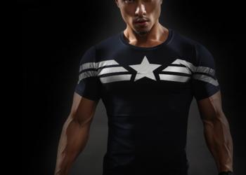 Koszulka Termoaktywna AVENGERS Siłownia Captain America L