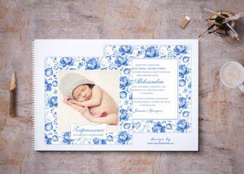 Zaproszenia na chrzest ze zdjęciem dziecka