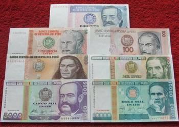 PERU Kolekcjonerskie Banknoty Zestaw - 7 sztuk UNC