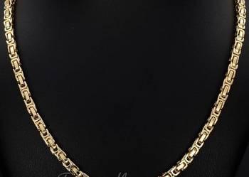 Złoty łańcuszek,splot królewski,oryginalny made in italy HIT