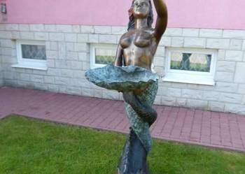 SYRENA Z MUSZLA fontanna ogrodowa z brazu
