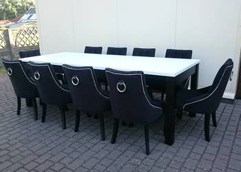 PRODUCENT eleganckie pikowane chesterfield krzesło z kołatką