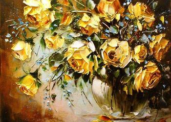 Róże - Obraz plejny , 50x40 szpachla