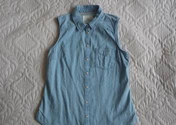 H&m biała koszula bez rękawów kołnierzyk koronkowa bluzka  xI1Xs