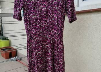36060be6e4 Sukienka 38 H M różowa w pióra z krótkim rekawem