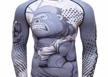 Koszulka Termoaktywna Rashguard MMA NA SIŁOWNIE Małpa roz. L