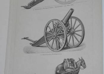 ARMATY, BROŃ, MILITARIA  oryginalne XIX w. grafiki