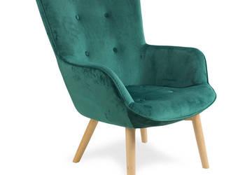 Fotel pikowany welurowy Cozy 4 Fotel Uszak zielony