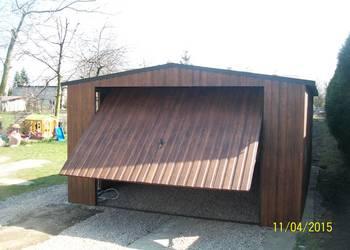 garaż blaszany 6x4 4x6 orzech złoty dąb garaże WZMOCNIONY