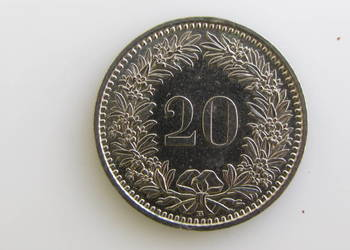 Moneta 20 rappenów 1994 r ( Szwajcaria )