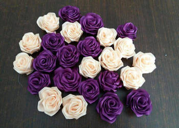Kwiatki kwiatuszki ze wstazki... Róże, różyczki