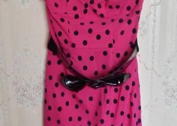 Sukienki okolicznościowe Tanio! Różowa w groszki Jane Norman