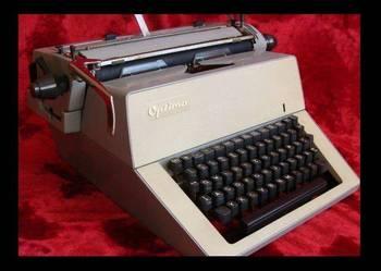 Stara , duża maszyna do pisania Optima