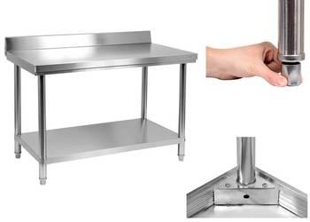 Stół roboczy z półką i rantem 140x70cm YATO