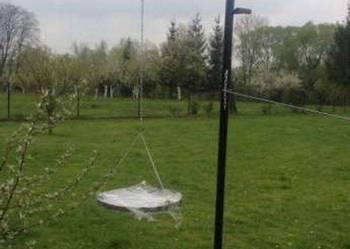 Grill ogrodowy wiszący na rurze