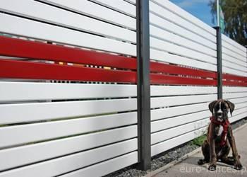 Nowoczesne poziome ogrodzenie aluminiowe NOVO