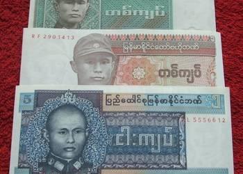 BIRMA Kolekcjonerskie Banknoty Zestaw - 3 sztuki UNC UNC-
