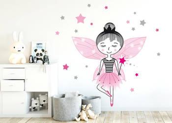 Naklejka na ścianę dla dzieci wróżka GRATIS