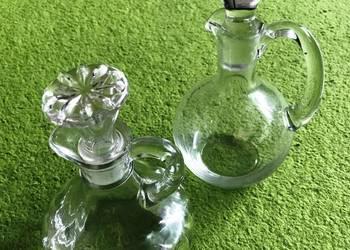 Pojemniki na przyprawy płynne, oliwa, ocet, szklane, komplet