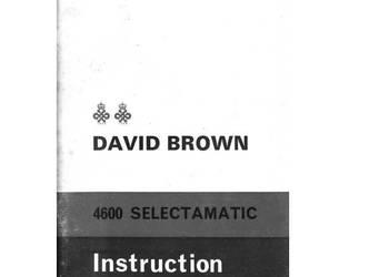 David Brown 780, 900, 4600, instrukcja obsługi