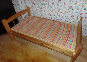 łóżko drewniane + materac