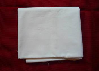 Materiał 150x85cm Białe Płótno Bawełna Tkanina Kupon