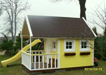 Duży domek dla dzieci drewniany+GRATIS 1stolicz.z 2 ławecz