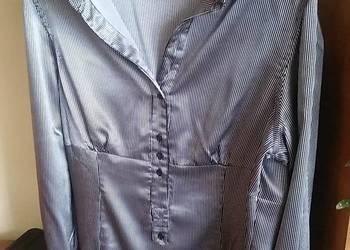 Atlasowa bluzka w drobne paski