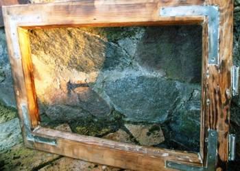 Stare okno rama lustro obraz loft retro 37x52