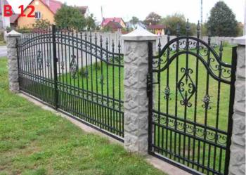 Brama wjazdowa kuta , bramy , ogrodzenia kute ogrodzenie