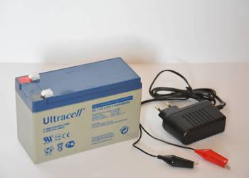 Zestaw akumulator żelowy i ładowarka LED w zestawie TANIEJ
